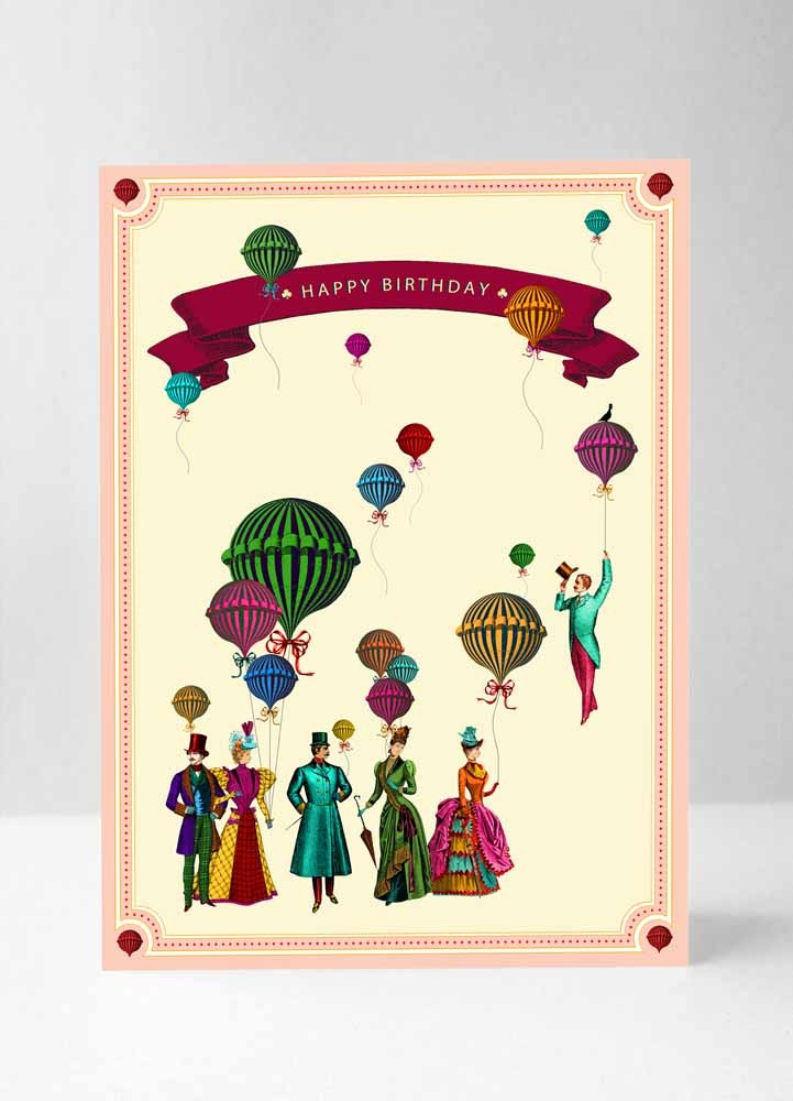 Happy Birthday Vintage Party Card